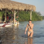 Waterskiing in Progresso Lagoon