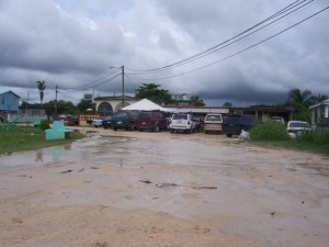 Corozal Belize flooded roads