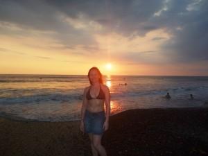 me at sunset at Jaco beach