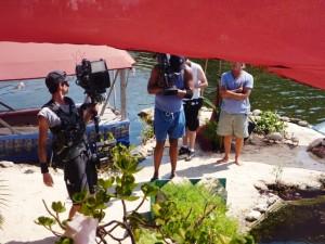 MTV at Rishi's plastic bottle island Isla Mujeres